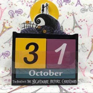 """Nightmare Before Christmas"" Wooden Block Calendar"
